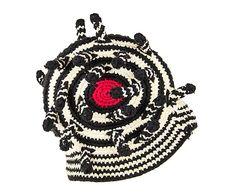 Chapeau, noir et rouge - Ø19