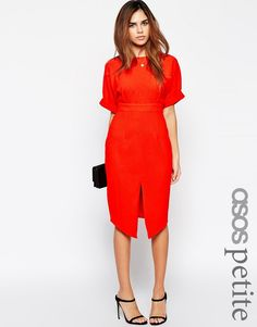 Image 1 of ASOS PETITE Wiggle Dress with Split Front