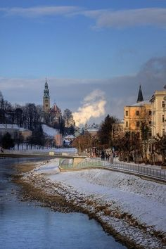 Snowy Salzburg, Austria.  Go to www.YourTravelVideos.com or just click on photo for home videos and much more on sites like this.