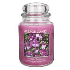 Village Candle Violet Blossom Duftkerze im Glas 645g - 028695 -