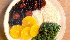 Brazilian Black Bean Stew – Feijoada Brasileira Recipe on Black Bean Stew, Black Beans, Kale Recipes, Cooking Recipes, Bean Chilli, Sauteed Kale, Fresh Meat, Dinner Is Served, Orange Slices