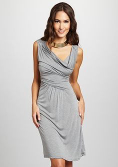 ANM Cowl Neck Drape Front Dress
