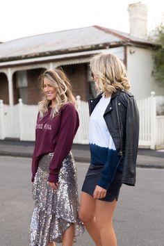 SWEATSHIRTS Tie Dye Sweatshirt, Fashion Labels, Shop Now, Sequin Skirt, Campaign, Sweatshirts, Skirts, Shopping, Clothes