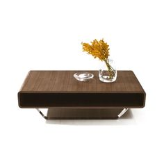 With its wenge wood veneer and contrasted chrome legs. The Modern Coffee table is simple, & elegant. Euro Living Orlando Fl Your Modern Furniture Source Low Coffee Table, Coffee Table With Drawers, Walnut Coffee Table, Cool Coffee Tables, Modern Coffee Tables, Contemporary Furniture Stores, Contemporary Coffee Table, Modern Furniture, Furniture Ideas