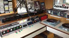 Radio Caroline studio on board The Ross Revenge