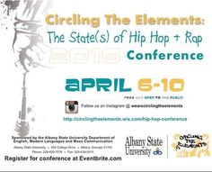 I Am Classic Hip Hop is proud to announce their Media Sponsorship of the 2016 Circling The Elements Hip Hop Conference to be held April 6-10 at Albany State University.  This years conversation focuses around The State of Hip Hop & Rap. Essays papers and presentations question and investigate various aspects of hip-hop hip-hop studies and pedagogy headed by Keynote Speaker Andre Johnson Albany State University English Department Assistant Professor & Circling The Elements Hip Hop Conference…