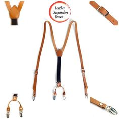 New-Mens-Leather-Elastic-Suspenders-Y-Back-Suit-Office-Adjustable-Holdup-Braces
