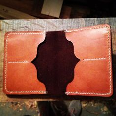 Handmade Mens Horween Leather Wallet. by JWCaseyLeatherCo on Etsy