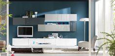 mueble salon blanco y gris - Buscar con Google
