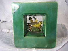 Vintage McCoy Arcature Planter With Bird by ATestOfTime2 on Etsy, $45.00