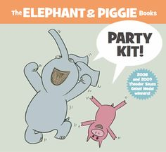 Tons of free Elephant & Piggie activities! LOVE Elephant and Piggie! Piggie And Elephant, Elephant Party, Elephant Birthday, First Grade Themes, Library Lessons, Library Ideas, Mo Willems, Author Studies, Programming For Kids