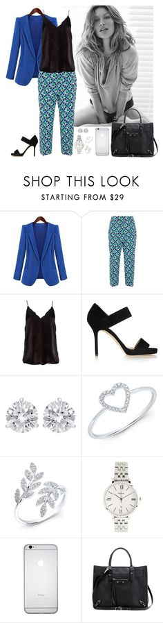 """""""Work wear #19"""" by rafieldshow ❤ liked on Polyvore featuring Prada, Jimmy Choo, Jewels by Viggi, Anne Sisteron, FOSSIL and Balenciaga"""