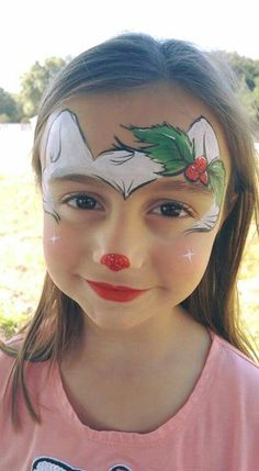 Face Painting Tips, Face Painting Designs, Painting For Kids, Body Painting, Christmas Face Painting, Christmas Paintings, Henna Paint, Balloon Animals, Animal Faces
