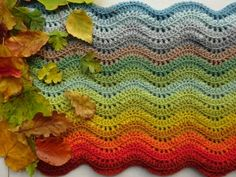 Woodland Blanket By Lucy Of - Free Crochet Pattern - (ravelry) Crochet Afghans, Crochet Stitches For Blankets, Crochet Squares Afghan, Crochet Ripple, Manta Crochet, Afghan Crochet Patterns, Free Crochet, Irish Crochet, Ripple Afghan
