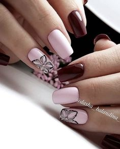 Spring Nail Ideas For Exceptional Look 2019 - Page 35 of 68 - Soflyme - Best Nail Art Spring Nail Colors, Spring Nail Art, Spring Nails, Cute Nails, Pretty Nails, Hair And Nails, My Nails, Manicure, Gel Nagel Design