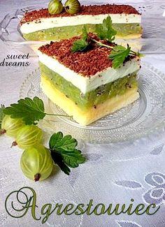 сладких снов Крыжовник Traditional Cakes, Polish Recipes, Russian Recipes, Pastry Cake, Piece Of Cakes, Food Cakes, Coffee Cake, Delicious Desserts, Cake Recipes