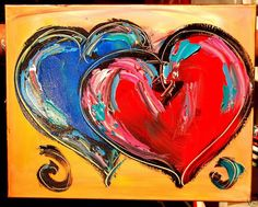 heart paintings on canvas | ... hearts oil painting on canvas model number paintings 8690 type