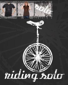 Unicycle t-shirt.