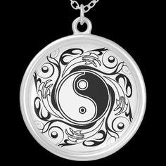#Decorative #Yin & #Yang #Symbol - #Necklace © #Bluedarkat - on #Zazzle!