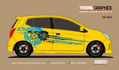 Sticker Mobil Sorong, Cutting Sticker Agya & Ayla. TRIBAL GRAPHICS jln. Trikora,Transad,Aimas Kab.Sorong Papua Barat Call/SMS/WA (0852-5434-4693)  #TribalGraphics #CuttingSticker #3DCuttingSticker #Decals #Vinyls  #Stripping #StickerMobil #StickerMotor #StickerTruck #Wraps  #AcrilycSign #NeonBoxAcrilyc #ModifikasiMobil #ModifikasiMotor #StickerModifikasi  #Transad #Aimas #KabSorong #PapuaBarat Sticker Design, Wraps, Stickers, Sticker, Decal, Rap, Body Wraps