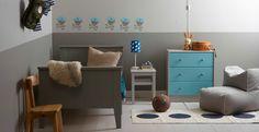 Jotun Pirat Interior Architecture, Interior And Exterior, Interior Design, Wall Colors, Colours, Kids Castle, Kidsroom, Color Inspiration, Pilates