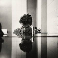 William KLEIN :: Chet Baker [at piano], Hollywood, 1954