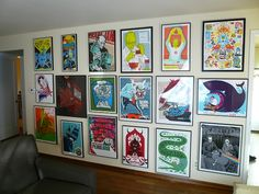 A wall full of Pearl Jam posters