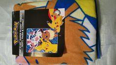 "Amazon.com - Pokemon Sylveon, Pikachu, Eevee Group Shot Super Plush Fleece Throw Blanket 46"" X 60"" -"