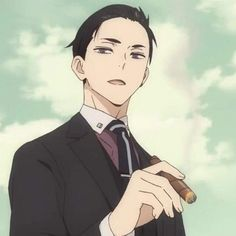 """""""Daisuke Kambe is totally a daddy material 💗 —wow i haven't watched anime for a long time"""" Manga Anime, Otaku Anime, Anime Art, Cute Anime Pics, Cute Anime Boy, Haikyuu, Anime Lindo, Handsome Anime Guys, Anime Profile"""