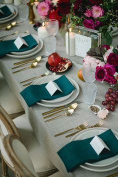 wedding table decorations 360921357620487082 - Wedding-Reception-Ideas-Wow-Your-Guests-Modern-Restaurant-Teal-Crimson-Table-Setting Source by Wedding Reception Table Decorations, Wedding Table Settings, Wedding Themes, Decor Wedding, Place Settings, Wedding Ideas, Wedding Ceremony, Table Wedding, Wedding Receptions