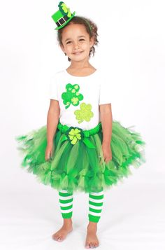 Petti Tutu Skirt  St Patrick's Day  Green  by Cutiepatootiedesignz, $60.00