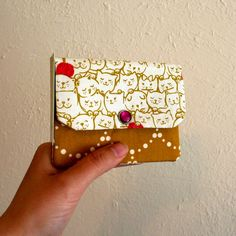 Cats with Yarn Gold Kitties Cash and Card Wallet with by hotbutter Hot Butter, Library Card, Card Wallet, Favorite Color, My Design, Kitty, Change, Zipper, Friends