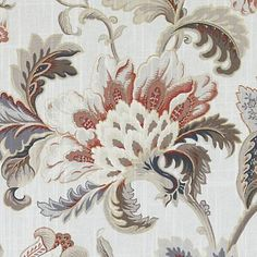 Oatmeal floral large home fabric by Duralee. Item DP61344-220. Save on Duralee. Big discounts and free shipping! Find thousands of designer patterns. Strictly first quality. Width 54 inches. Swatches available.