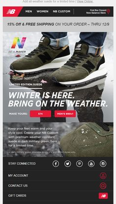 New Balance email 2016 email marketing email design email content sneakers http://www.newbalance.com