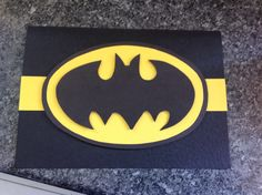 Batman card made for my niece for her birthday