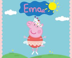 Peppa pig ballerina Backdrop  Peppa Pig Birthday  Peppa Pig