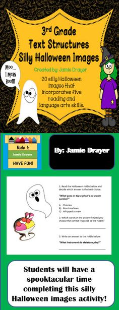 This ready to use activity comes with 20 clip art/real life images for students to apply reading and language arts skills to. All skills are based on 3rd grade standards. Contents of this resource include: Using inference skills to solve riddles, writing in complete sentences, writing captions, adjectives, and bold words with dictionary skills. Perfect for reading warm-ups, centers, whole class review, extra practice for early finishers, or a fun holiday activity.