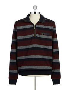 Bugatti Quarter-Zip Sweater Men's Red Large