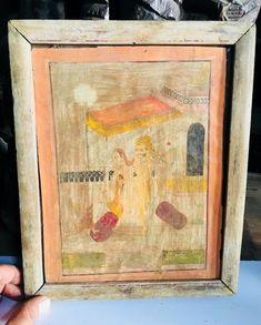Old Antique Original Beautiful Queen King Erotic Scene Prince Miniature Painting #Miniature