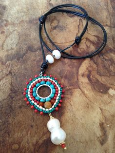 A personal favorite from my Etsy shop https://www.etsy.com/listing/265979606/touch-of-the-west-turquoise-coral