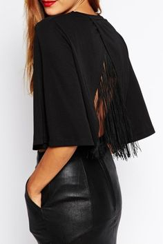 Kim Fringed Top, Genuine-People. We're all about the fun fringe. Throw on a pair of high waisted skinnys and your favorite boots and you're instantly chic.