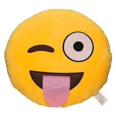 This soft plush emoji pillow is definitely a conversation piece. The detail that is put into this pillow mimics the actual emoticon. It makes a great gift for your love ones and a great home dcor item
