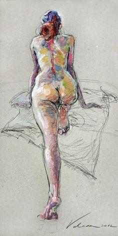 """FLO""1 (Painting), 40x80 cm by Raluca Vulcan"