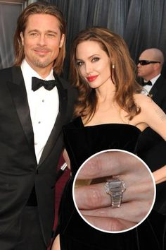 The Top 25 Celebrity Engagement Rings: Angelina Jolie and Brad Pitt's 16 carat custom Robert Procop diamond ring