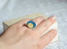 Hey, I found this really awesome Etsy listing at https://www.etsy.com/uk/listing/465308216/blue-wood-ring-unique-wooden-ring-with