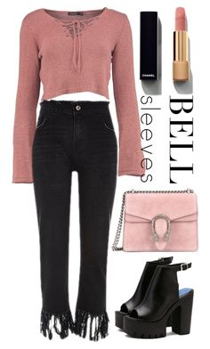 """""""Untitled #77"""" by nanaddd ❤ liked on Polyvore featuring Gucci and Chanel"""