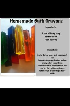Homemade bath crayons