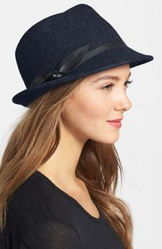 Nordstrom Leather Bow Felt Fedora available at #Nordstrom