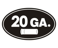 12 GAUGE Vinyl Decal Sticker Car Window Wall Bumper Box Case Gun Ammo Shotgun