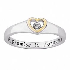 Sterling Silver 'A Promise is Forever' Diamond Heart Promise Ring ($44) ❤ liked on Polyvore featuring men's fashion, men's jewelry, men's rings, rings, jewelry, accessories, white, mens sterling silver black diamond ring, mens white gold rings and mens white gold diamond ring